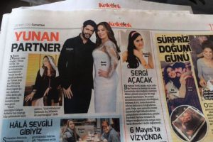 Turkish News paper ''Hurriyet'' mention Stergios collaboration with the Turkish Persona.