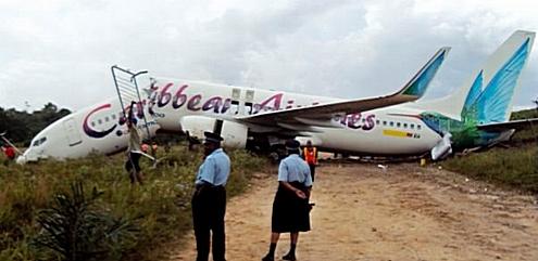 Γουιάνα: Αεροσκάφος κόπηκε στα δύο στην προσγείωση