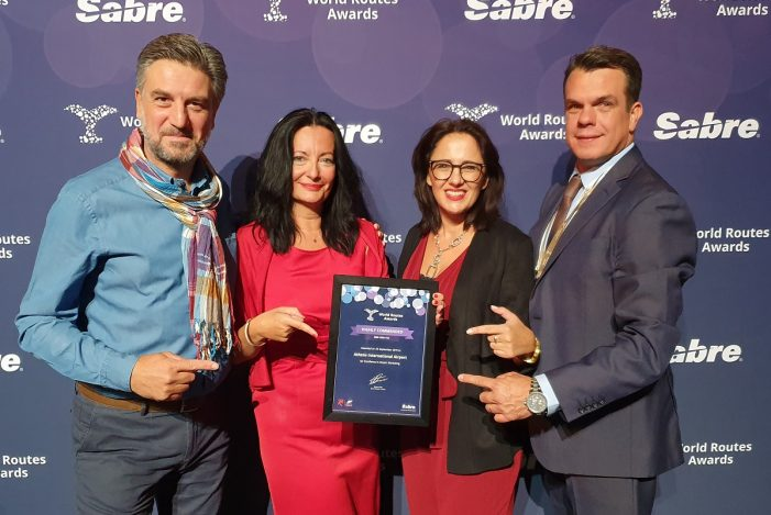 Athens Airport Honored at 'World Routes' Awards for 18th Year