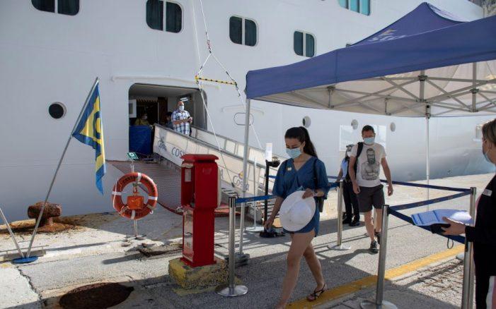 Corfu welcomes first cruise ship of new season